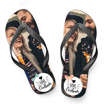 Flip-Flop mit Foto Button Xmas