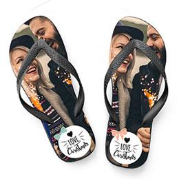 Flip Flop Geschenke Button Xmas