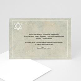 Trauer Danksagung israelitisch - Trauekarte Stern - 1