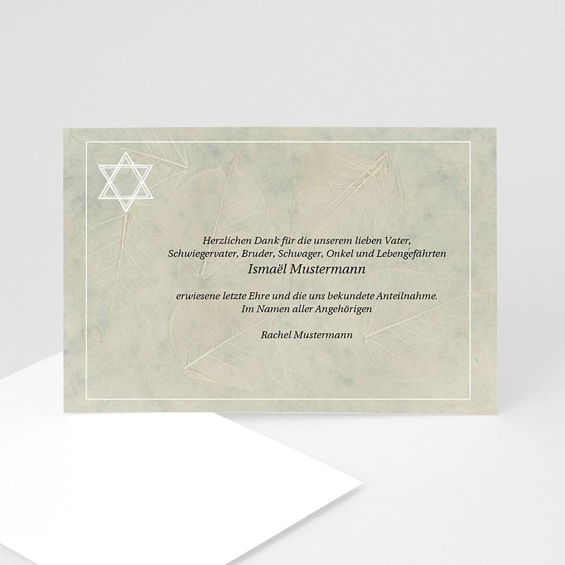 Trauer Danksagung israelitisch - Stern 5131 thumb