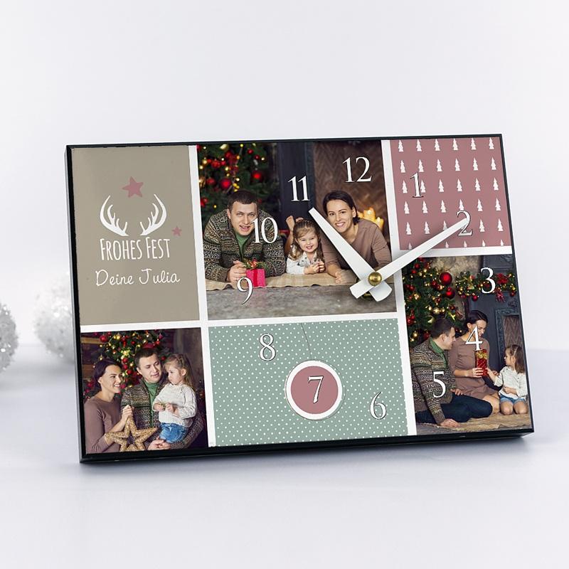 fotouhr individuell gestalten familienfotos. Black Bedroom Furniture Sets. Home Design Ideas