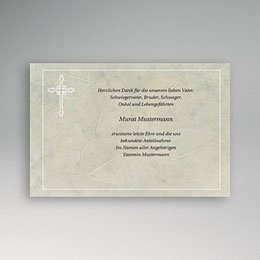 Karten Décès Chrétien Marmor-Blatt