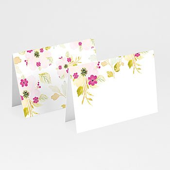 Tischkarten Hochzeit - Romance Watercolor - 0