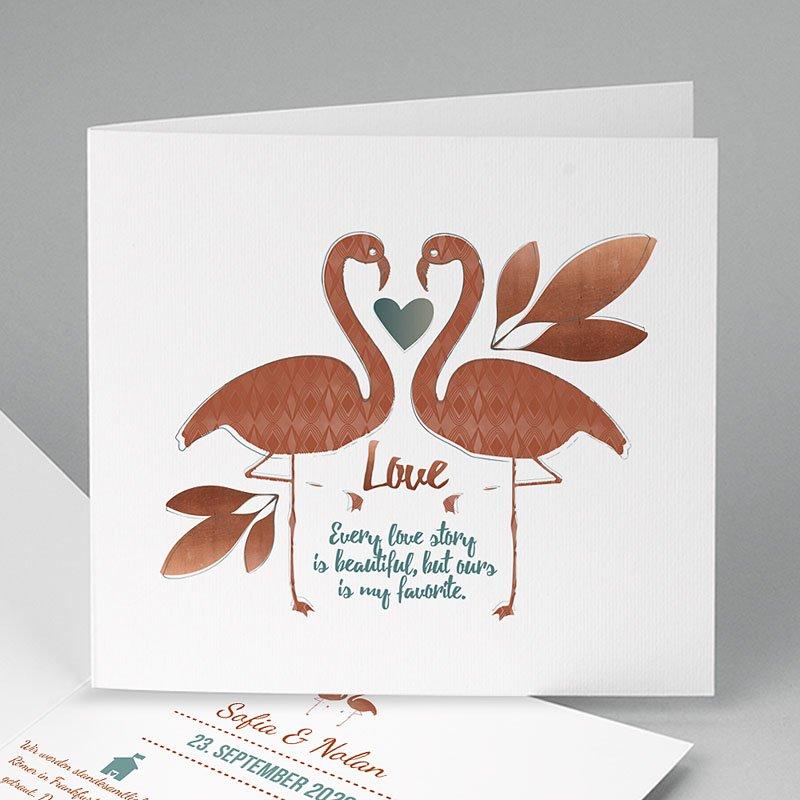 Hochzeitseinladungen Flamingo