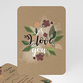 Einladungskarten Naturhochzeit  - Flower Vintage - 0