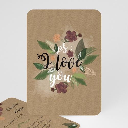 Einladungskarten Naturhochzeit  - Flower 51412