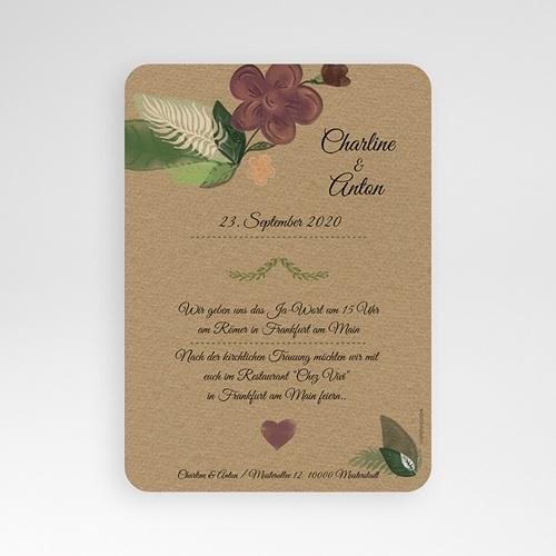 Einladungskarten Naturhochzeit  - Flower 51413 preview