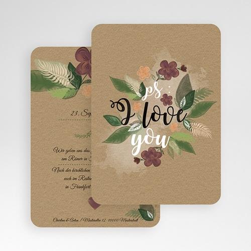 Einladungskarten Naturhochzeit  - Flower 51414 preview