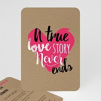 Einladungskarten Hochzeit  - Love Story - 0