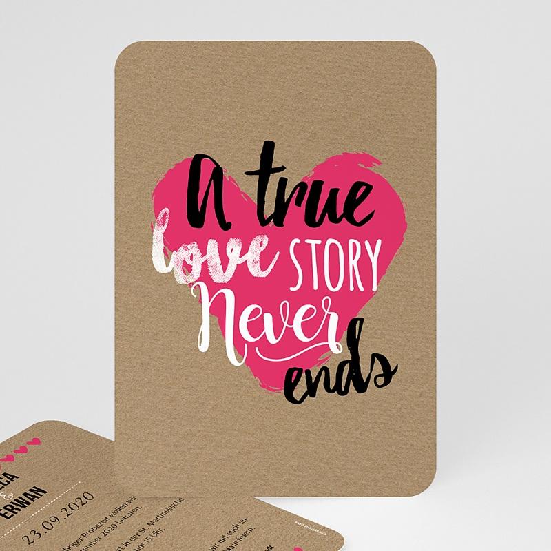 Hochzeitseinladungen Love Story