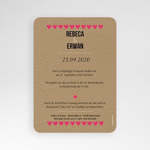 Einladungskarten Hochzeit  - Love Story 51422 test