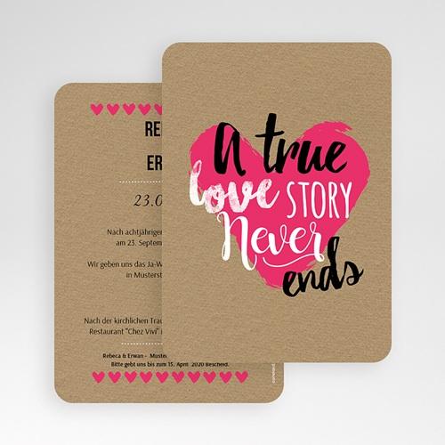 Einladungskarten Hochzeit  - Love Story 51423 test