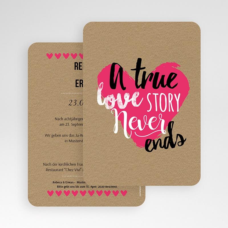 Hochzeitseinladungen Love Story gratuit