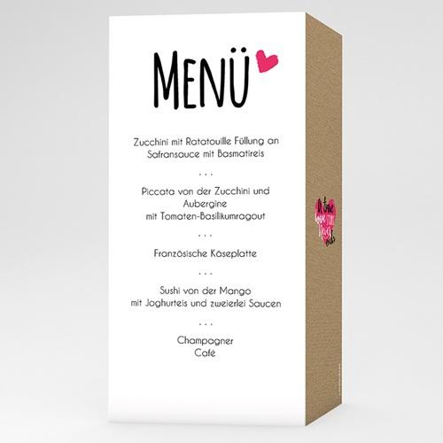 Menükarten Hochzeit - Story Love 51427