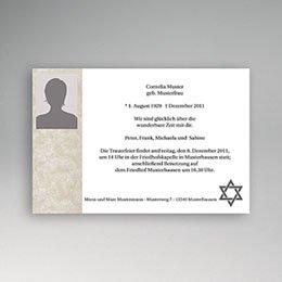 Trauer Danksagung israelitisch - Yahrzeit - 1
