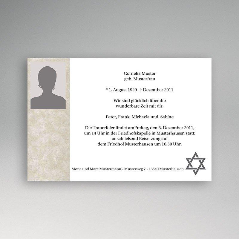 Israelitisch Dankeskarten Trauer Herbst