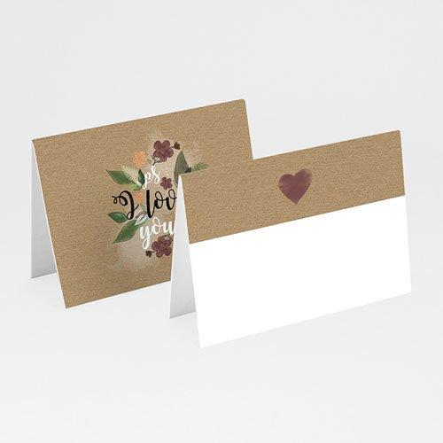 Tischkarten Hochzeit - Flower Vintage 51442
