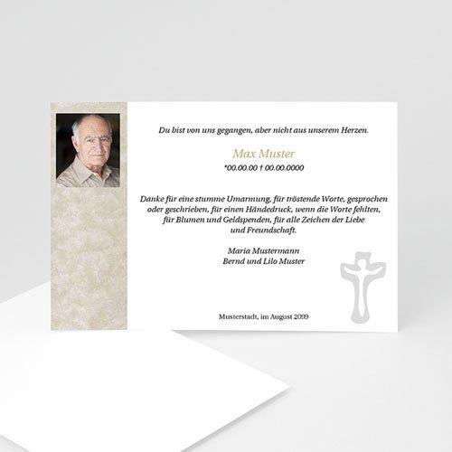 Trauer Danksagung christlich - Trauerkarte mit Kreuz 5147 test