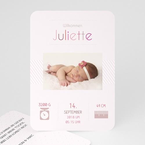 Geburtskarten für Mädchen - Weich 51476