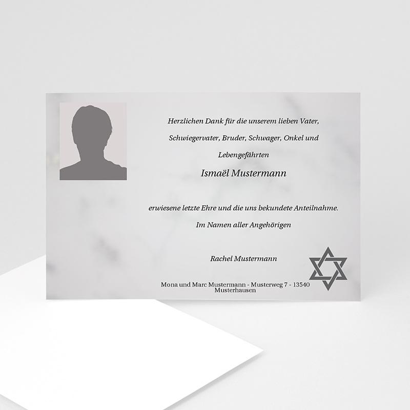 Trauer Danksagung israelitisch - Wehmut 5159 thumb