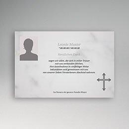 Einfache trauerkarte - 1