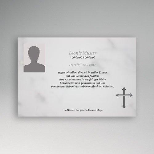 Trauer Danksagung christlich - Puristisch 5163 test