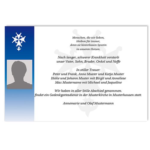 Trauer Danksagung christlich - Blume 5167 test