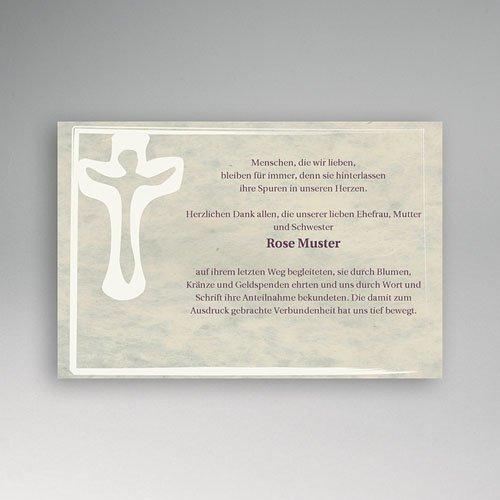 Trauer Danksagung christlich - Symbol des Lebens 5175 test