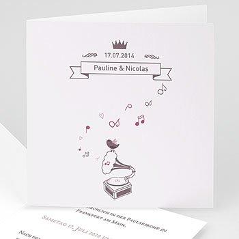 Klassische Hochzeitskarten  - Douce Musique - 0