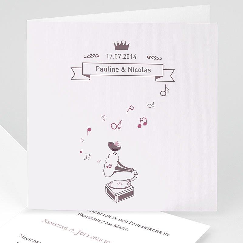 Klassische Hochzeitskarten  Zarte Musik