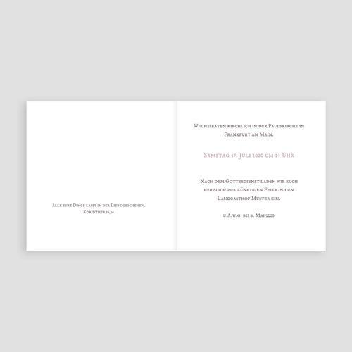 Klassische Hochzeitskarten  Zarte Musik pas cher