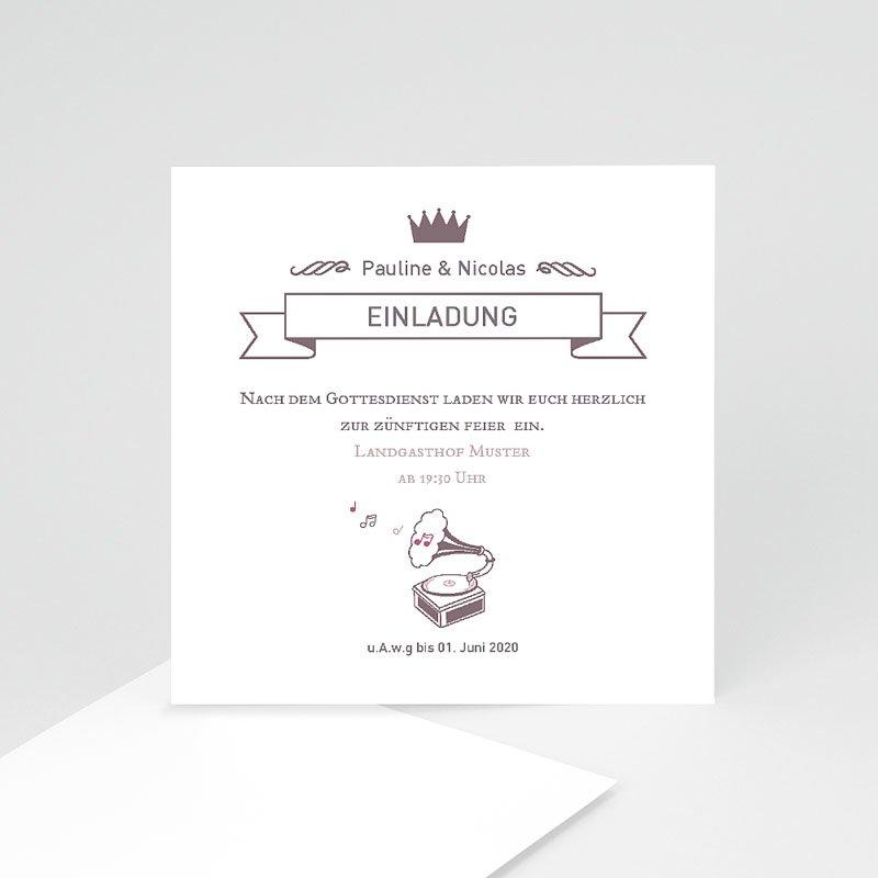 Einladungskarten Hochzeit Zarte Musik