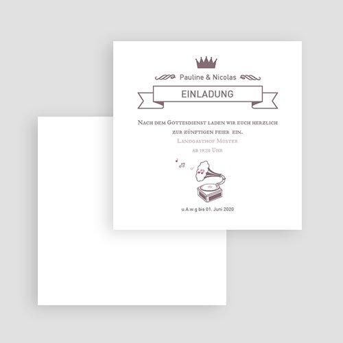 Einlegekarten Hochzeit - Zarte Musik 51771 preview