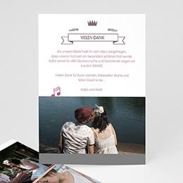 Alle Dankeskarten Hochzeit - Zarte Musik - 0