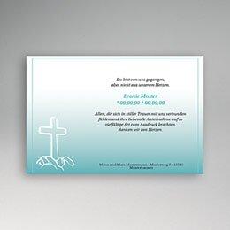 Danksagungskarten Décès Chrétien in Gedenken