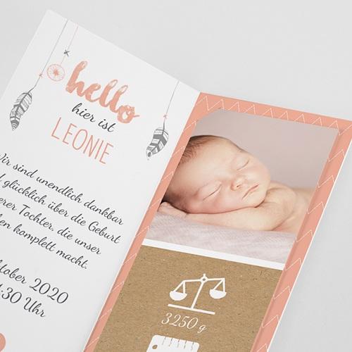 Geburtskarten für Mädchen Traumfänger Girly Duo pas cher