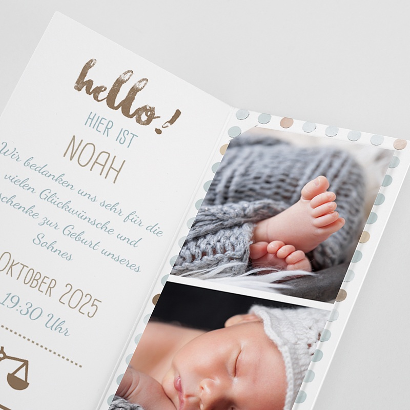 Geburtskarten mit Elefant Elefant Duo pas cher