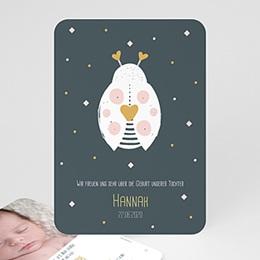 Geburtskarten für Mädchen - Kleiner Marienkäfer - 0