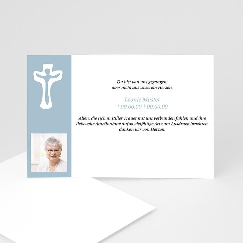 Christlich Dankeskarten Trauer Ruhe in Frieden