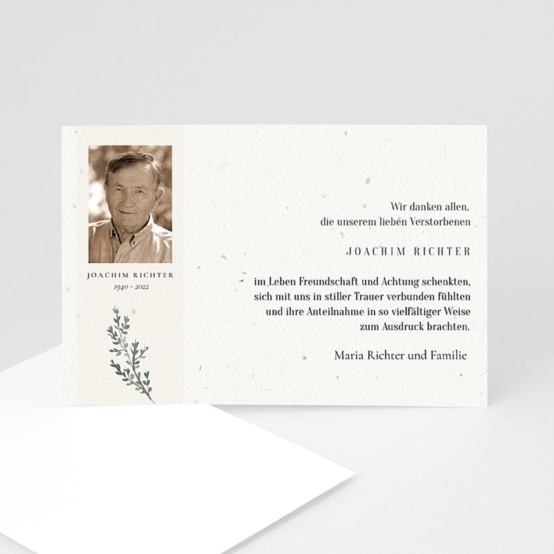 Weltlich Dankeskarten Trauer Schwarz