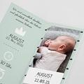 Geburtskarten für Jungen Kleiner König pas cher