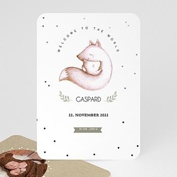 Geburtskarten für Jungen - Fuchsbaby - 0