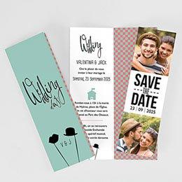 Einladungskarten Hochzeit  Retro Weddingday
