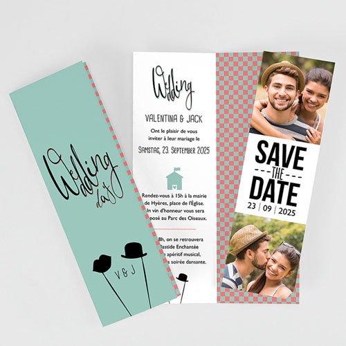 Hochzeitseinladungen modern - Retro Weddingday 51999