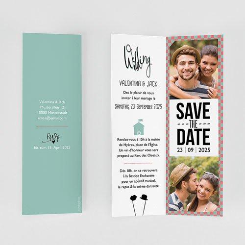Hochzeitseinladungen modern - Retro Weddingday 52001 preview