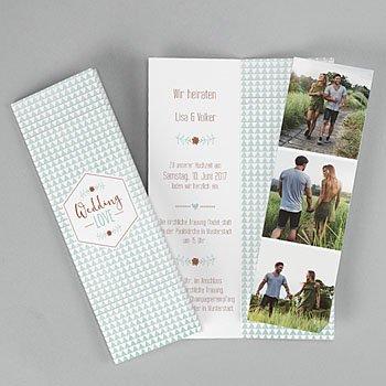 Hochzeitseinladungen modern - Wedding Love - 0
