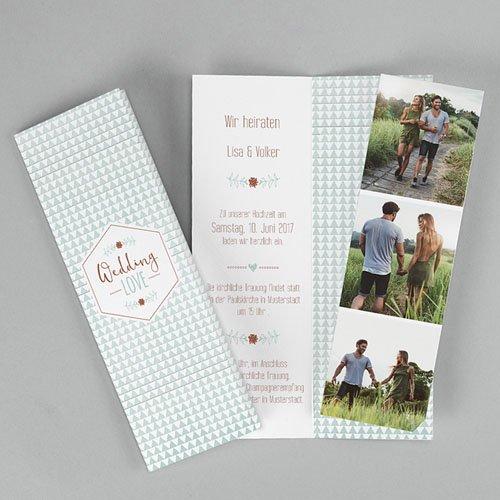 Hochzeitseinladungen modern - Wedding Love 52008