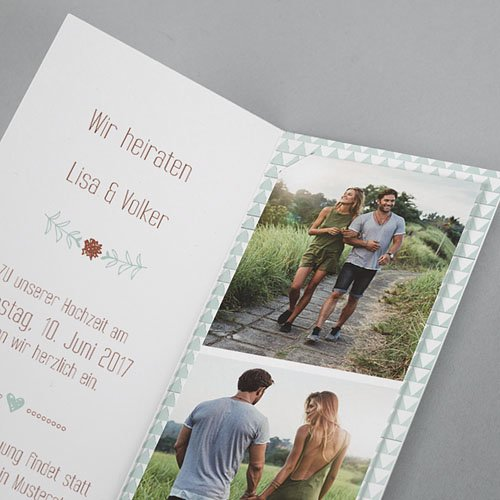 Hochzeitseinladungen modern - Wedding Love 52009 preview