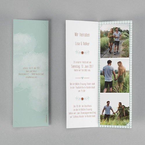 Hochzeitseinladungen modern - Wedding Love 52010 preview