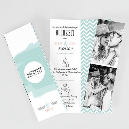 Einladungskarten Hochzeit Floral Und Aquarell Carteland De